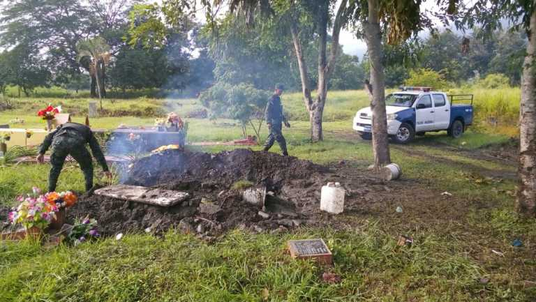 Conductor de bus era el quemado en cementerio de Chamelecón