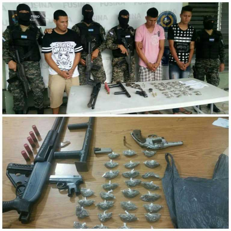 Capturan a tres presuntos pandilleros en San Pedro Sula