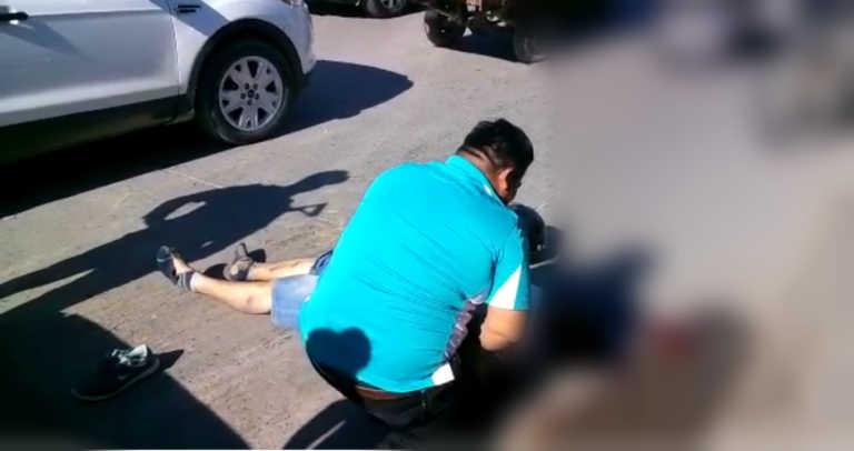SPS: Estremecedor vídeo de padre llorando frente a cadáver de motociclista