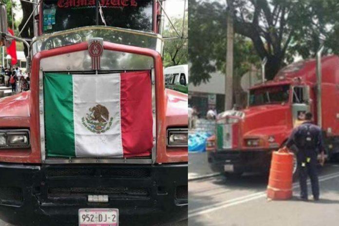 Tráiler con víveres para damnificados por terremoto es asaltado en Puebla