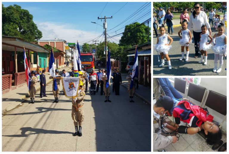 Desfiles en Villanueva: comparsas, vestuarios coloridos y altas temperaturas