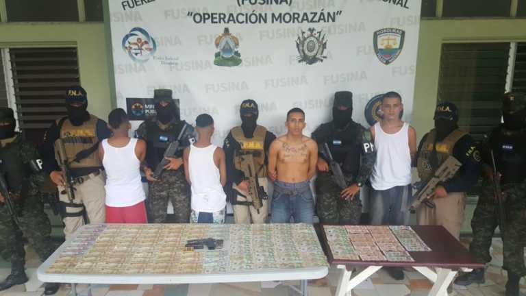 Detienen a cuatro supuestos extorsionadores en Chamelecón