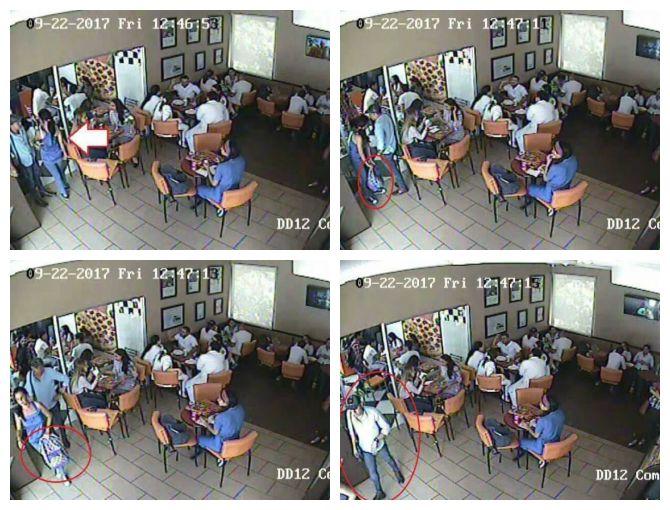 robo de cartera en restaurante de Tegucigalpa