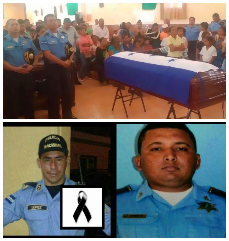 Familiares dan último adiós a policías atropellados en Siguatepeque