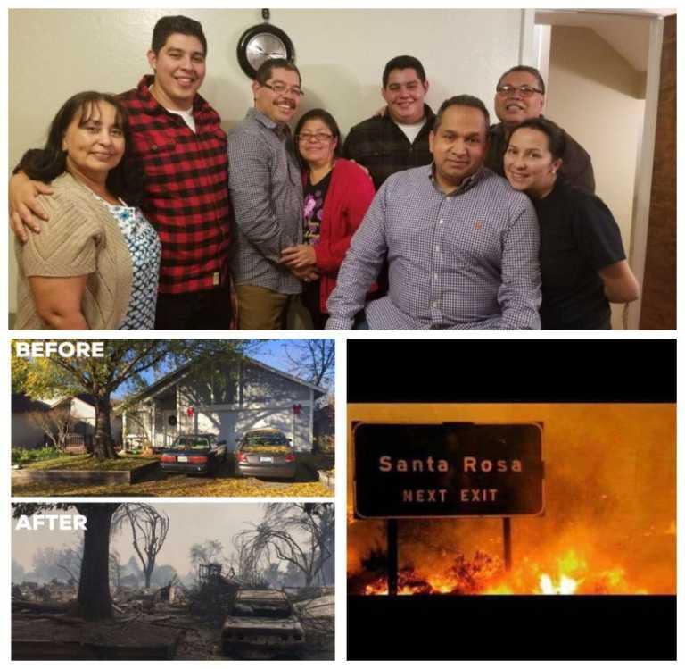 Familia hondureña lo perdió todo en incendios de California
