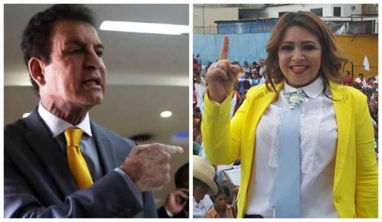 """Salvador Nasralla le dice """"esposa de cachiro"""" a Marlene Alvarenga"""