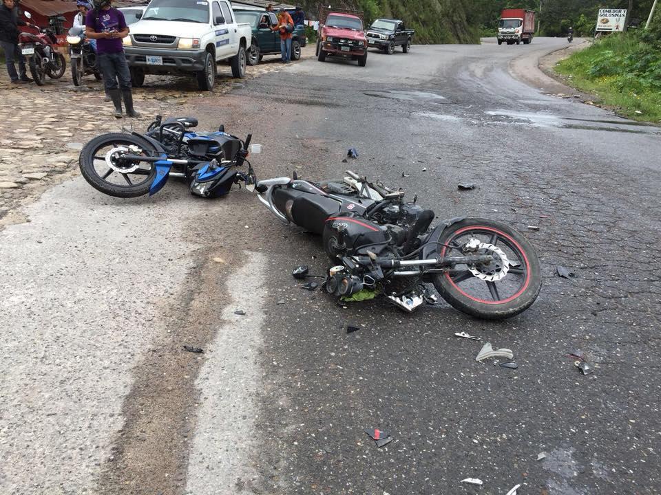 choque de motos en Copán