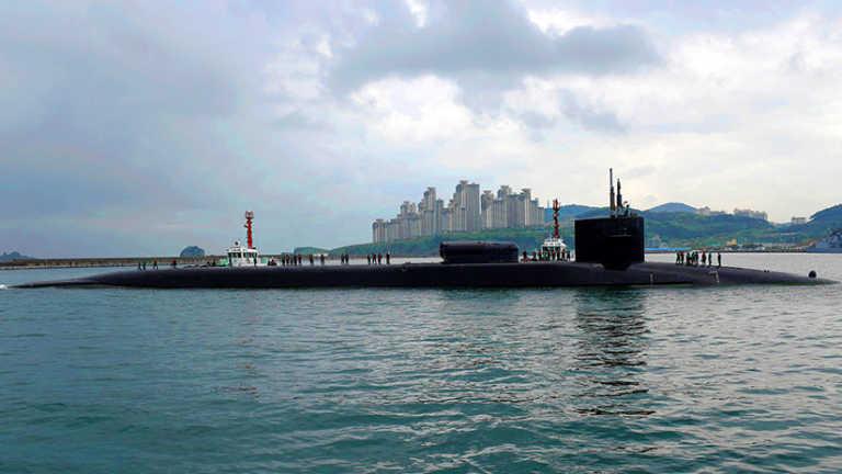 Península coreana: EEUU envía submarino nuclear con 154 misiles