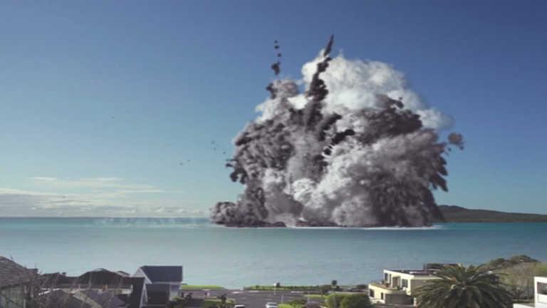 """Volcán submarino """"destruye"""" ciudad más poblada de Nueva Zelanda"""