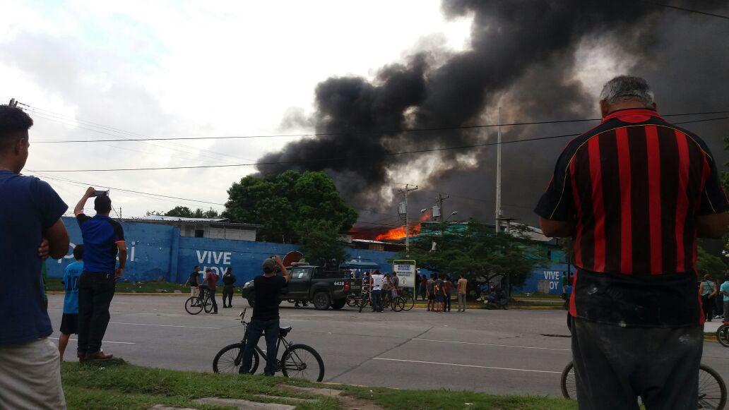 incendio en el ex Centro Penal