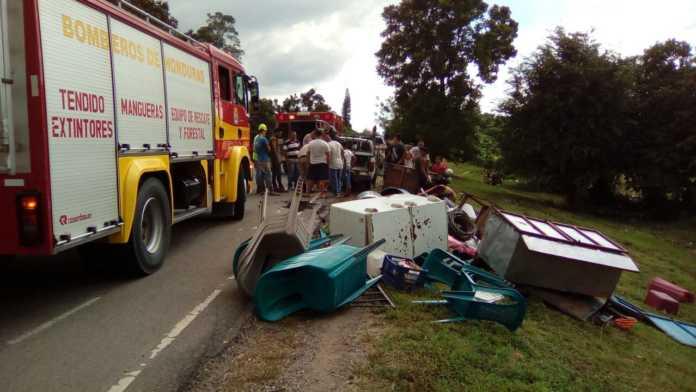 Accidente vehicular en Santa Rita