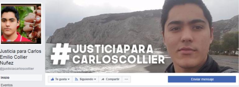 Crean página en Facebook para exigir justicia en caso de Carlos Collier