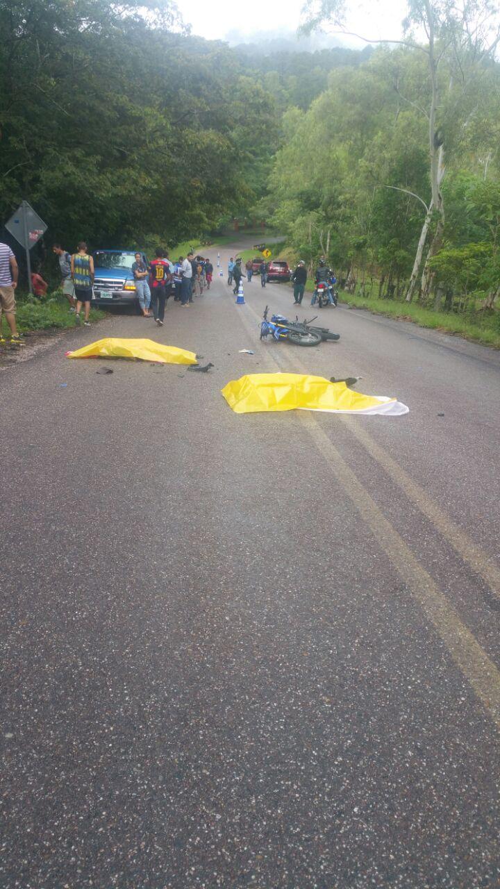 Trágico accidente en Danlí deja dos personas muertas