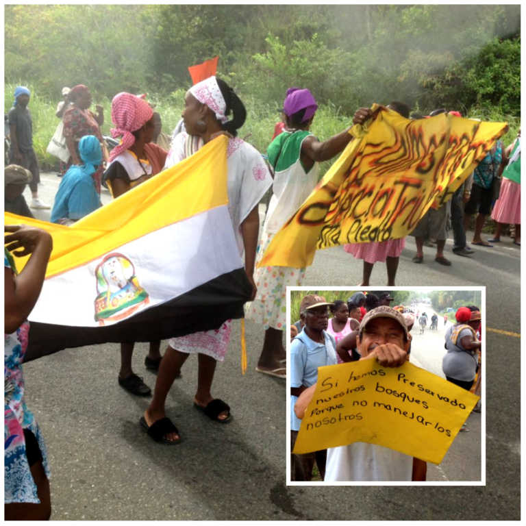 Comunidad garífuna protesta en Tela por incumplimiento del Estado Hondureño