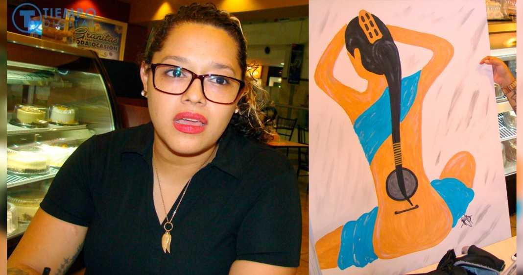 San Pedro Sula: Cristal Pineda, una pintora que es milagro de vida