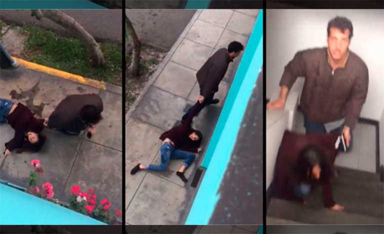 Perú: Un hombre por celos arrastra a su pareja por el vecindario