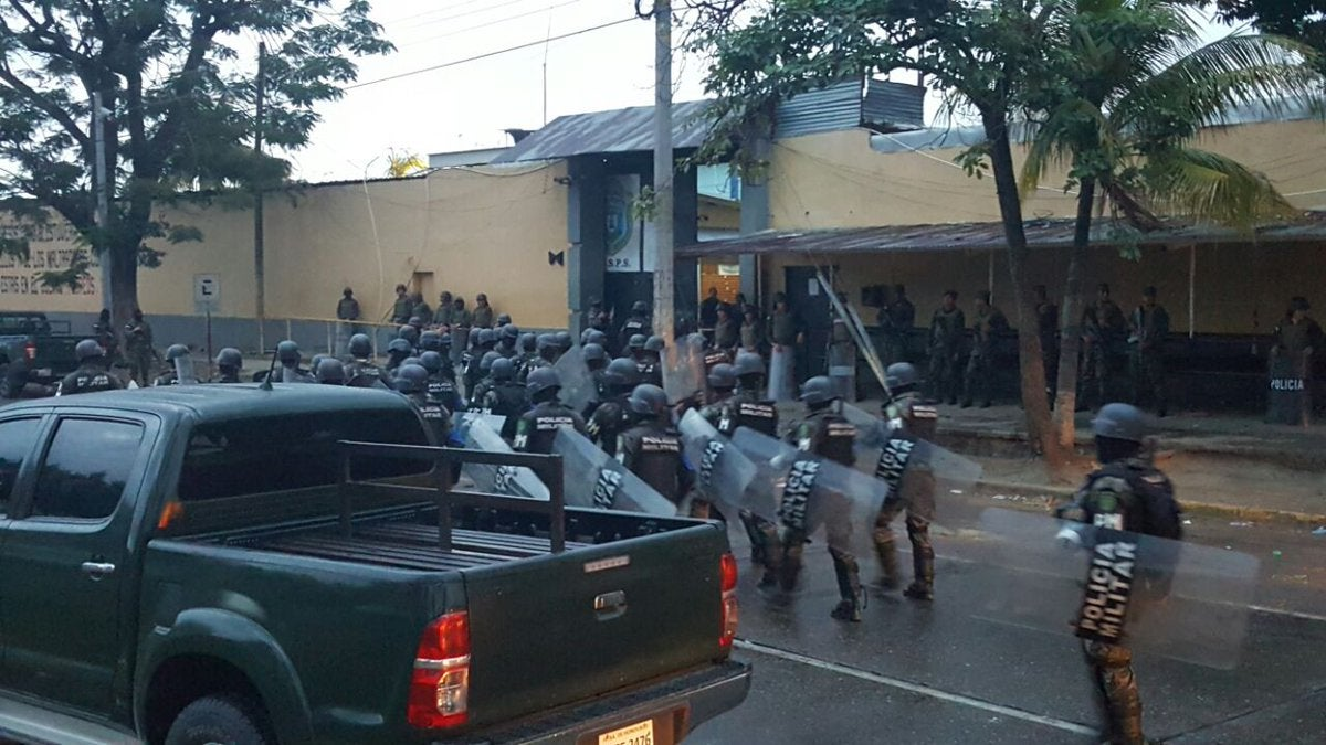 traslado de reos en San Pedro Sula