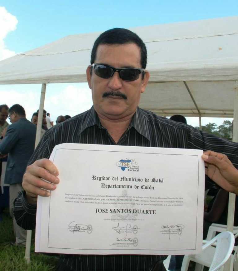 Muere regidor municipal en Sabá, Colón