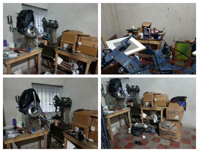 Talanga: Desmantelan laboratorio clandestino donde fabricaban medicamentos