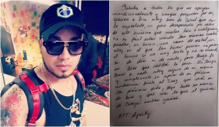 """El """"Packy"""" escribe una carta a sus seguidores desde la cárcel"""