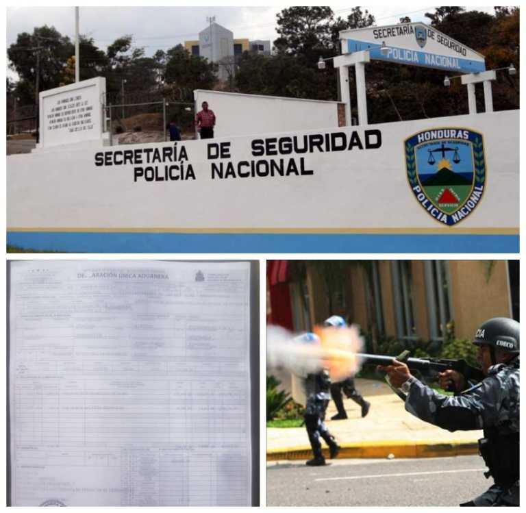 """Seguridad le """"tira la pelota"""" a la Policía Nacional sobre compra de granadas de humo"""