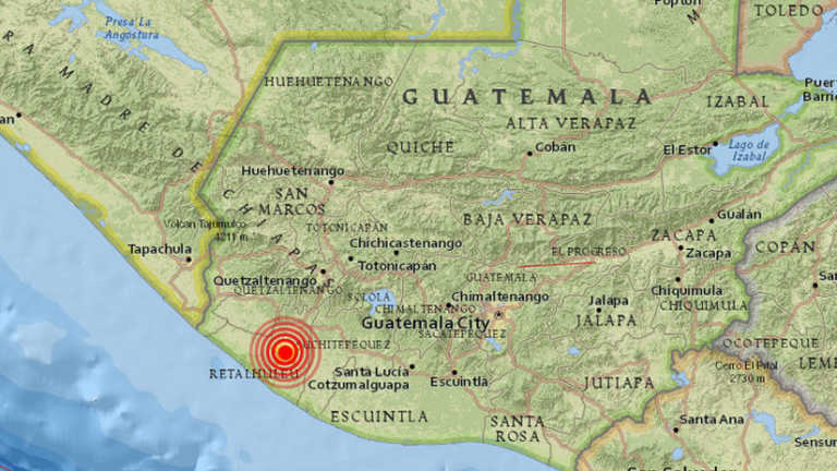 Terremoto de magnitud 5,1 se produce en Guatemala