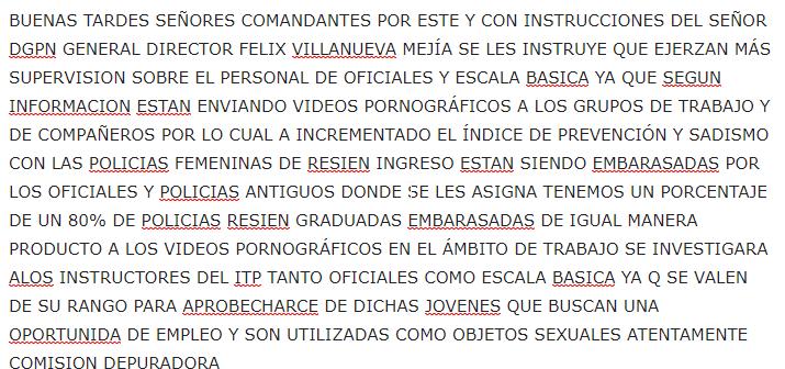 Mensaje ITP