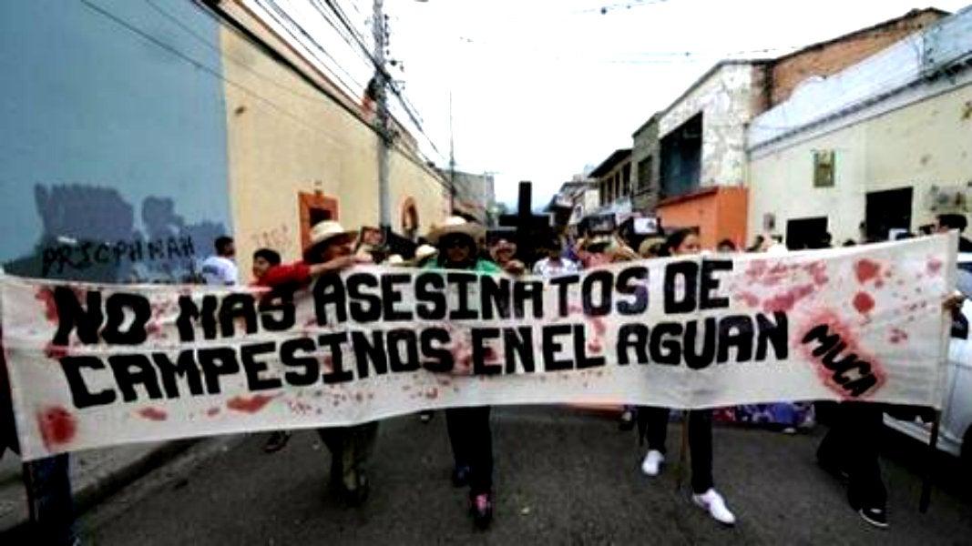 Movimientos de campesinos y defensores de Derechos Humanos han exigido incansablemente un alto a los asesinatos en el Aguán.