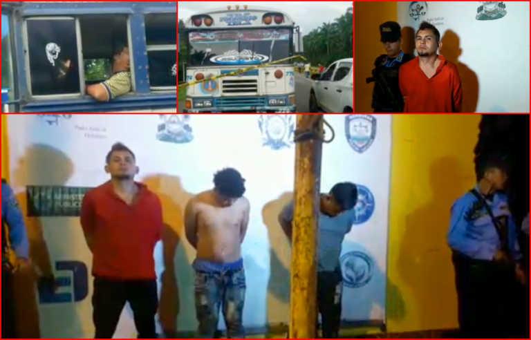 Tela: Rápida captura a supuestos responsables de masacre en bus