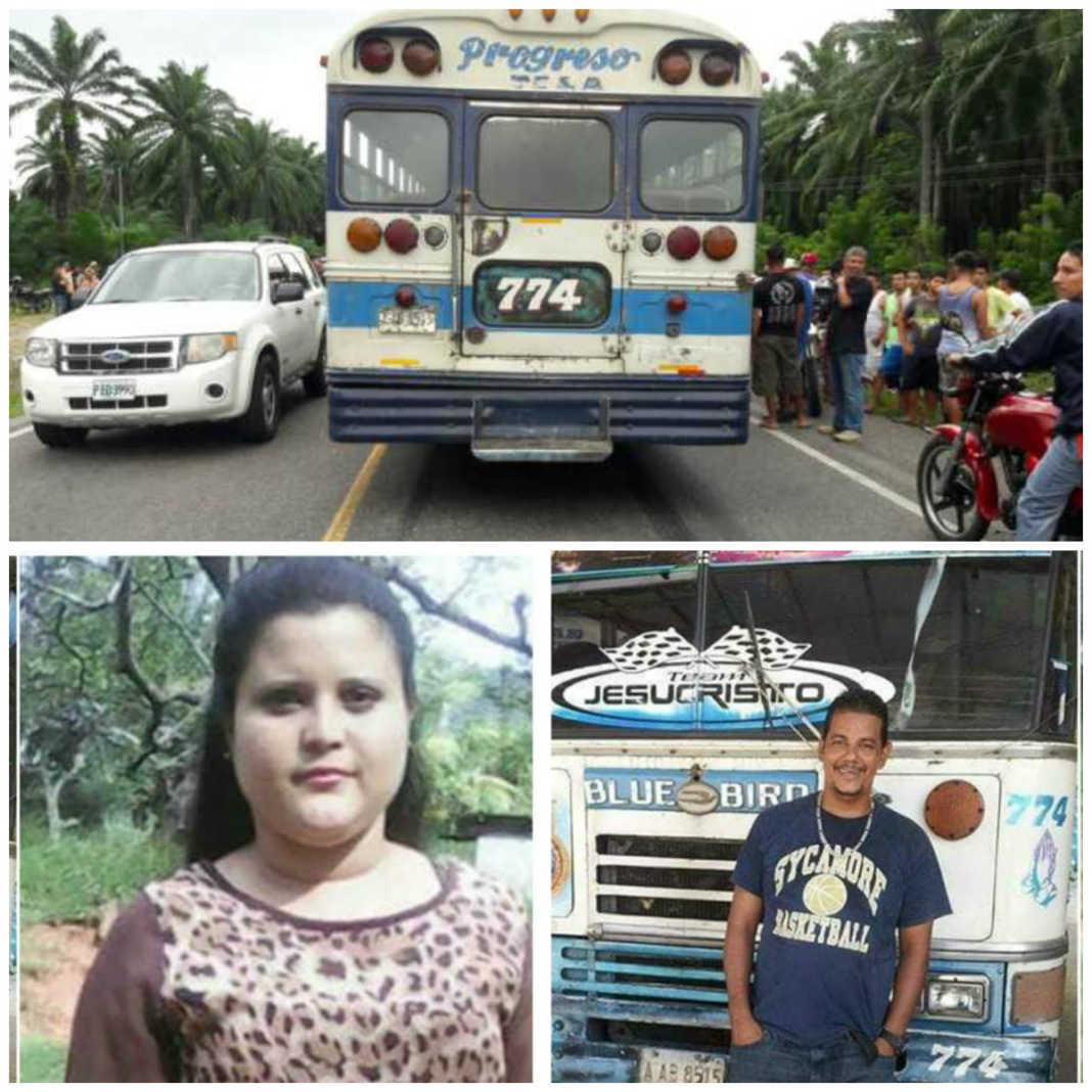masacre dentro de bus en Tela