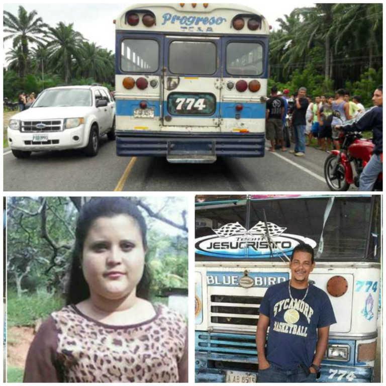 Tela: Jornalero, hijo de candidato a alcalde y una dama, víctimas dentro de bus