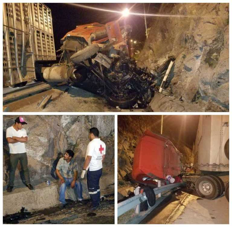 Rastrero nicaragüense se salva de milagro en accidente vehicular