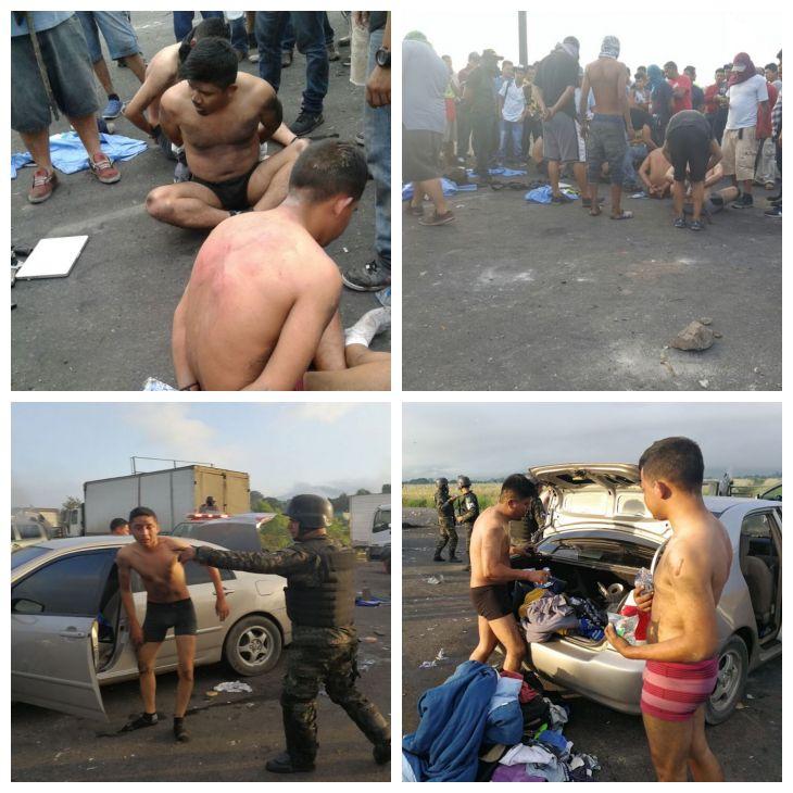 linchan y desnudan a policías en Pimienta