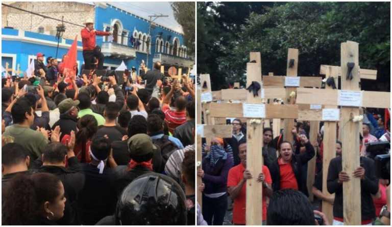 """Oposición manda carta abierta a Fuerzas Armadas y pide parar los """"asesinatos"""""""