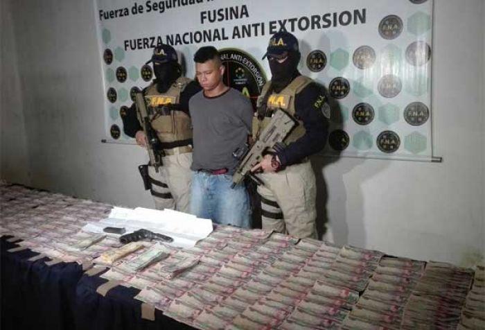 Capturan a presunto pandillero extorsionador en Tegucigalpa