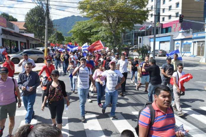 Marcha de la Alianza en San Pedro Sula