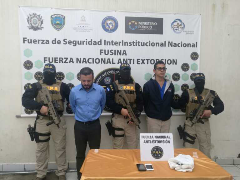 Tegucigalpa: Caen un administrador de empresas y un masajista por extorsión