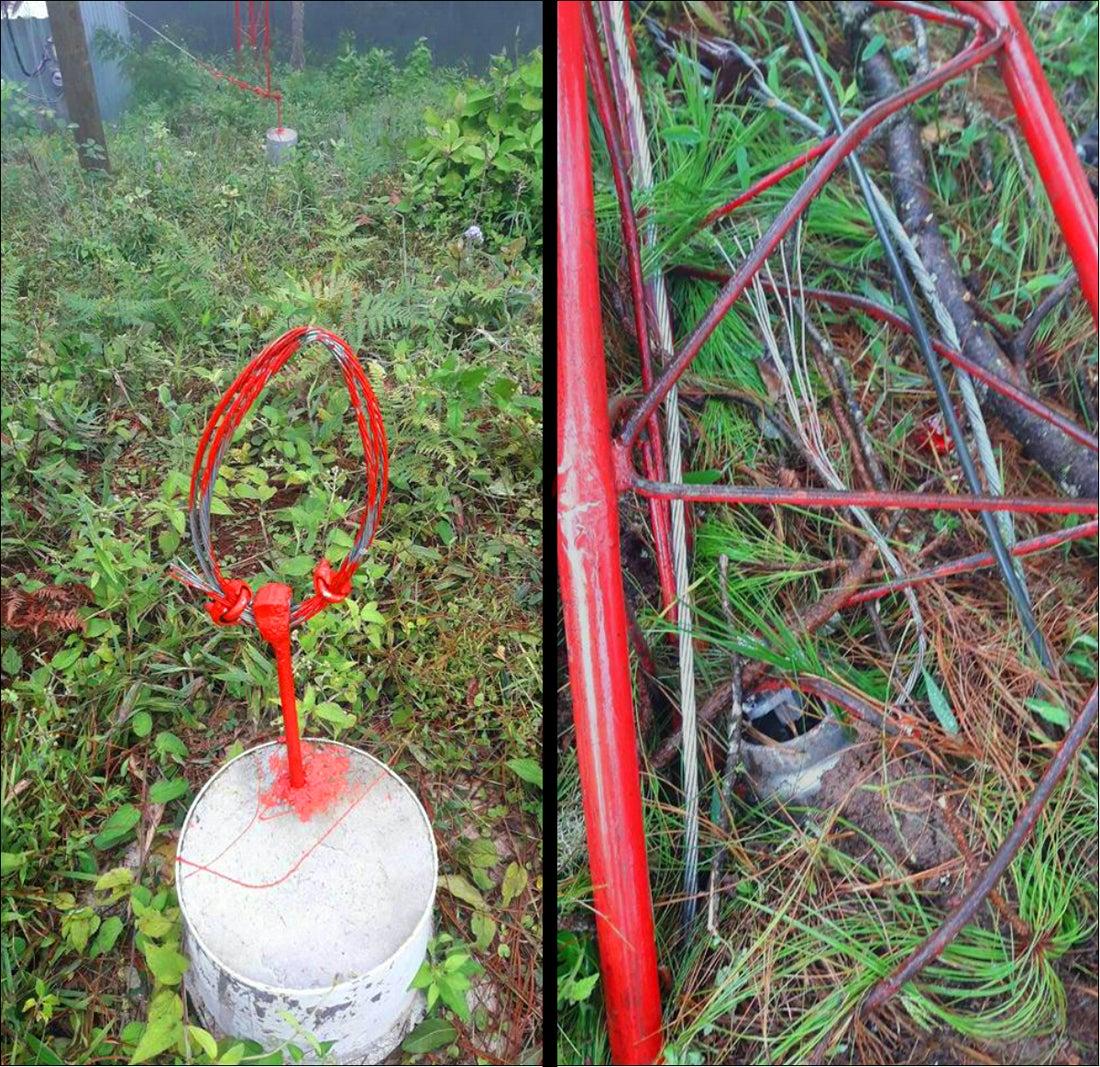 antena derribada