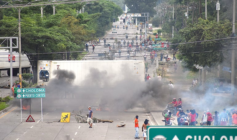 protestas en San Pedro Sula