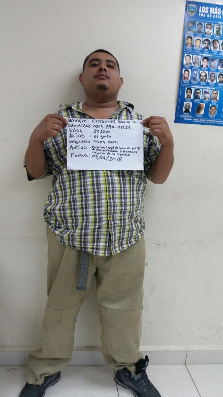 San Pedro Sula: Detenido por posesión de arma de fuego y rapto
