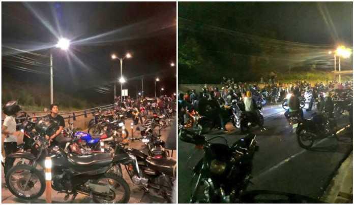 motociclistas protestan en Tegucigalpa