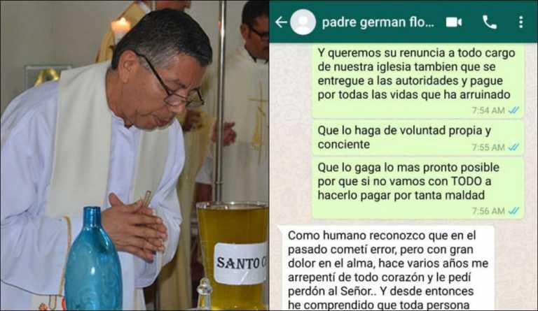 Mensajes revelarían que el padre German Flores abusó de menores en Danlí