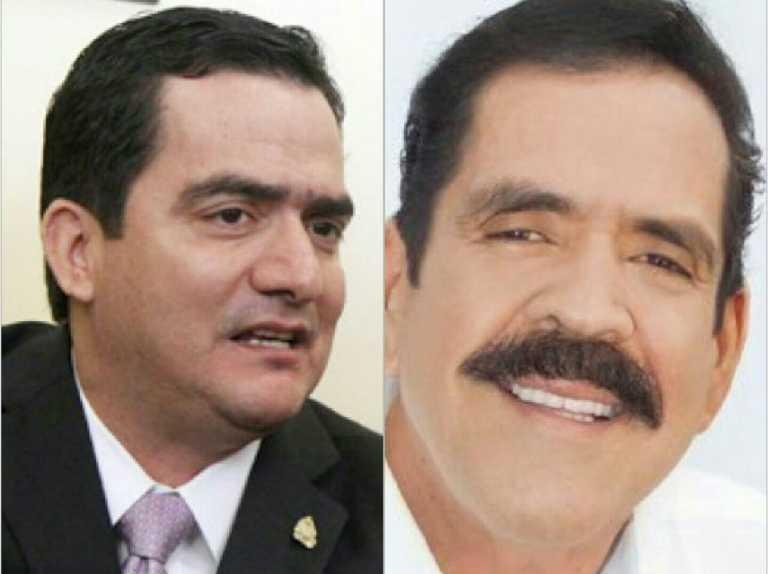 Mario Pérez, jefe de la bancada del PN y Carlos Zelaya de LIBRE