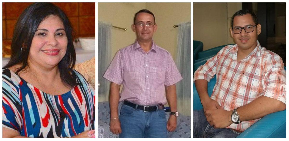 María Dolores Madrid Paz, hermana de la ministra del INAM; Maximiliano Mendoza de 45 años, conductor de la rastra; Luis Fernando Cabrera Puerto de 38 años.
