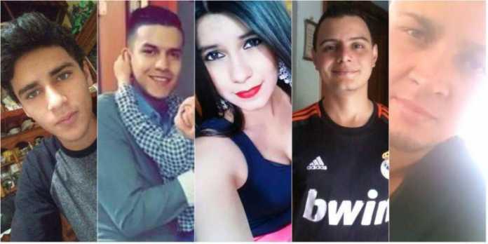 jóvenes implicados en el crimen del universitario Carlos Collier