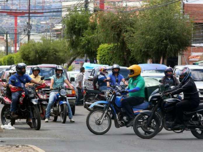 circulación de motocicletas en Honduras