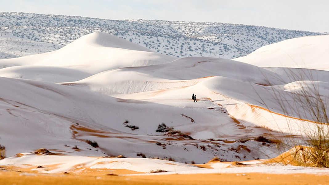 Nieva en el Sahara