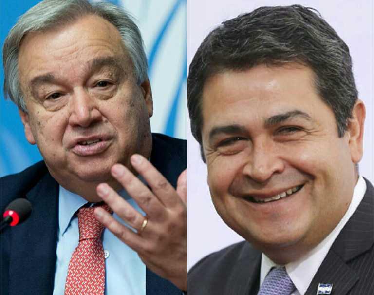 Secretario General de la ONU felicita a Hernández por su segundo mandato