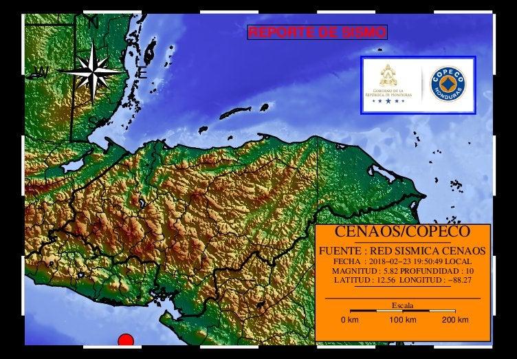 Dos movimientos sísmicos se reportan en las costas hondureñas