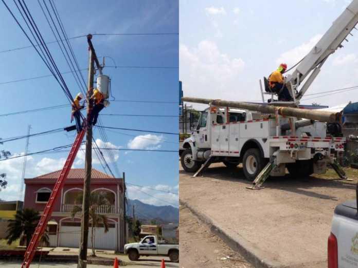 cortes de energía en Honduras